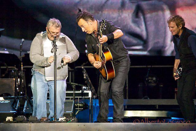 Andrea Scarso e Bruce Springsteen