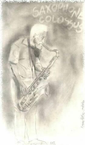 Sonny Rollins (matita, 1990)